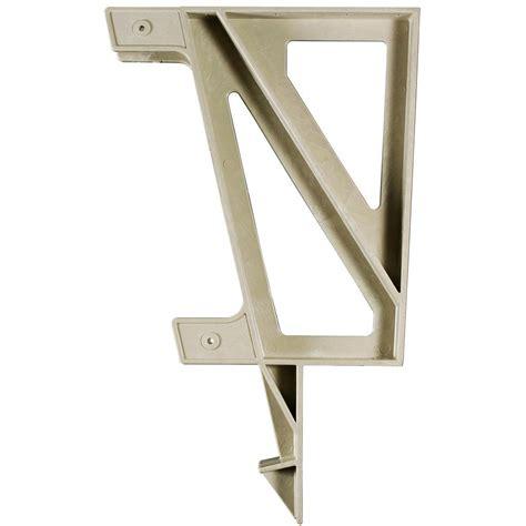 home depot bench brackets 22 in x 18 2 in x 1 3 in resin deck bench bracket sand
