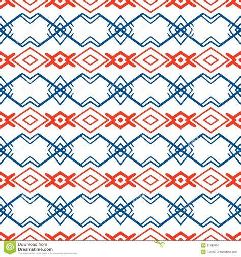 Phot Motif geometric pattern with scandinavian ethnic motifs stock