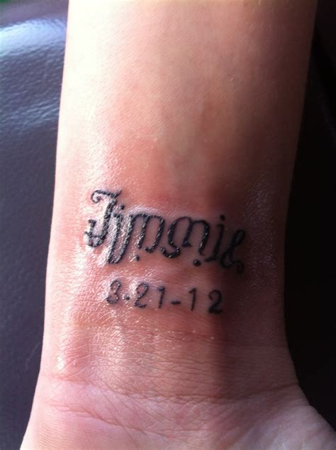 name and date tattoo designs ambigram with husband s name and anniversary