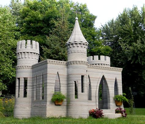 3d house printer 3d castle completed