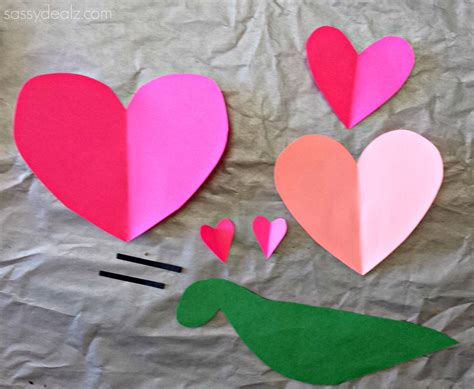 Construction Paper Valentines Day Crafts - snail craft for project