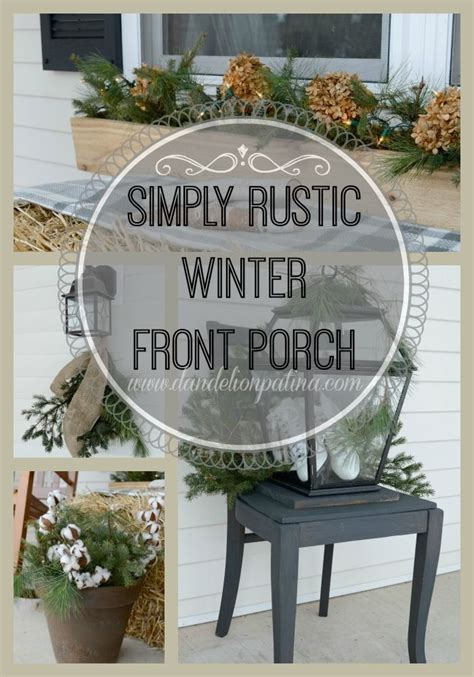 winter porch decorating ideas rustic winter front porch winter season front porches