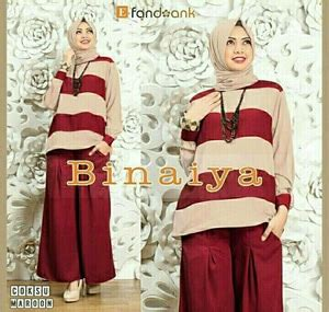 Celana Kulot Motif 04 baju muslim wanita setelan celana kulot 3 in 1 modis