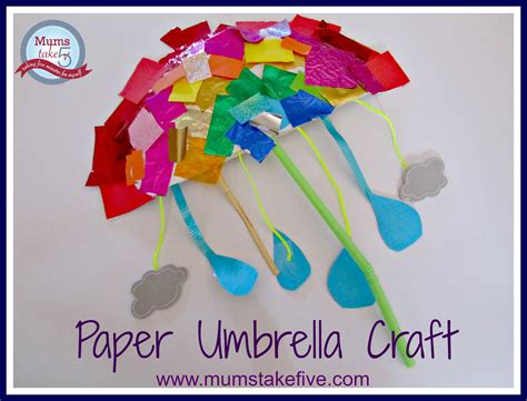 Paper Umbrella Craft - craft paper umbrella