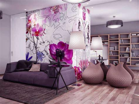 wallpaper dinding kamar ungu wallpaper dinding ruang tamu cerah warna hijau dan ungu