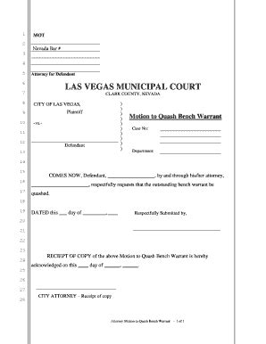 Nevada Warrant Search Las Vegas Bench Warrants Fill Printable Fillable Blank Pdffiller