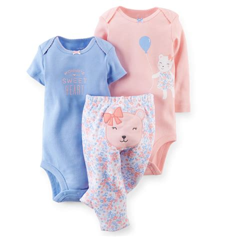 baby clothes 3pcs set applique baby clothing children