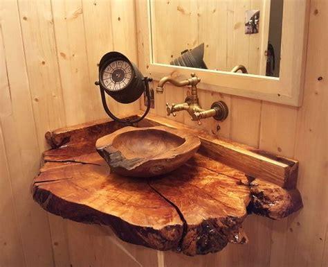wood bathroom sink wooden sink