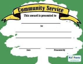 Community Service Certificate Template by Service Award Certificate Crafts Award