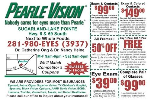 eye exams coupons printable