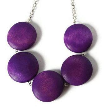 shop chunky wood necklace on wanelo