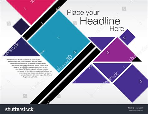 layout designer poester design layout graphics stock vector 143272324