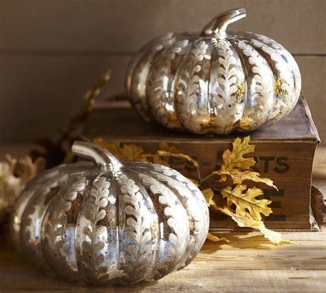 Glass Pumpkin Decorations etched antique mercury glass pumpkin