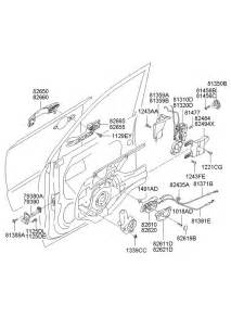 Hyundai Tucson Parts Hyundai Tucson Front Door Locking System