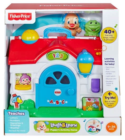 fisher price laugh and learn activity fisher price laugh learn puppy s activity home playset