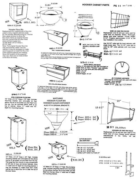 kitchen cabinet replacement parts muffshardware com hoosier parts