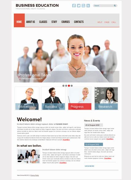 Mba Website Free by Business School Free Html Template Id 400000013 From