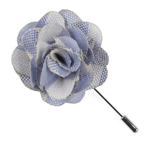 Air Background Check Sky Blue Open Air Checks Lapel Flower Pin Ties Bow Ties And Pocket Squares The