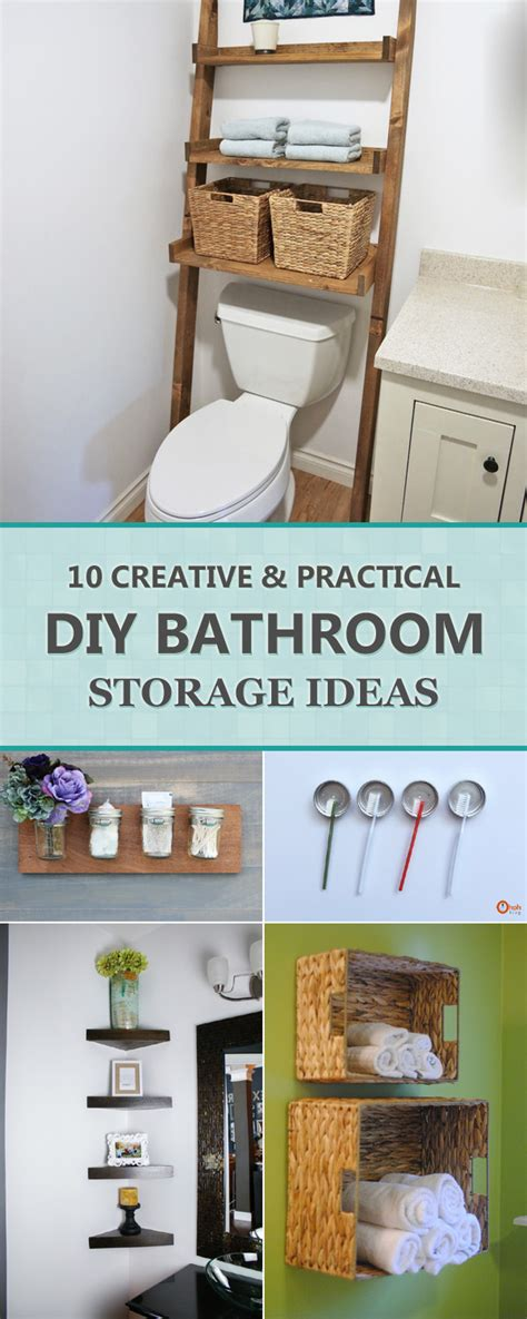 creative bathroom storage ideas 10 creative and practical diy bathroom storage ideas