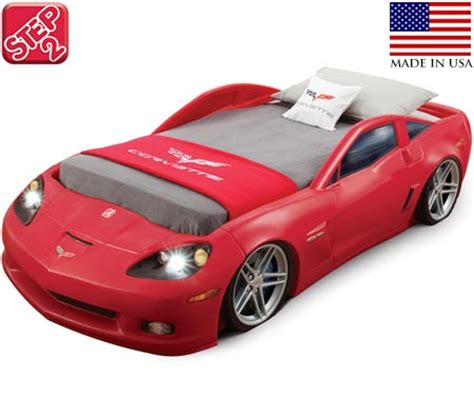 Step2 Corvette Car Bed Toddler To Twin Size With Working Step2 Corvette Toddler To Bed With Lights
