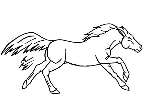 image gallery horse drawings to colour horse pictures drawings clipart best