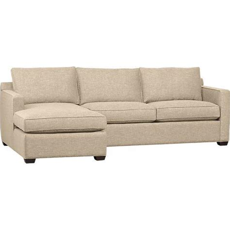 crate and barrel lounge sectional davis 2 piece sectional sofa in sectional sofas crate