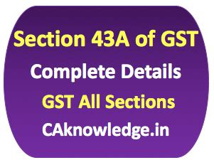 Section 43a Of Gst Special Procedure For Removal Of