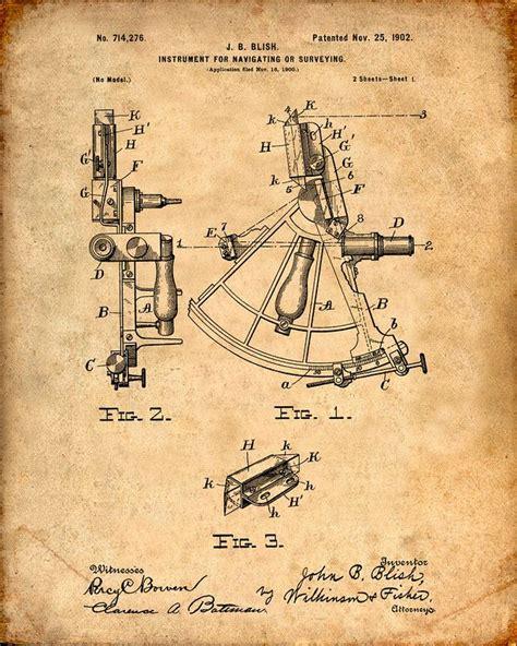 sextant inventor sailing sextant patent print patent prints pinterest