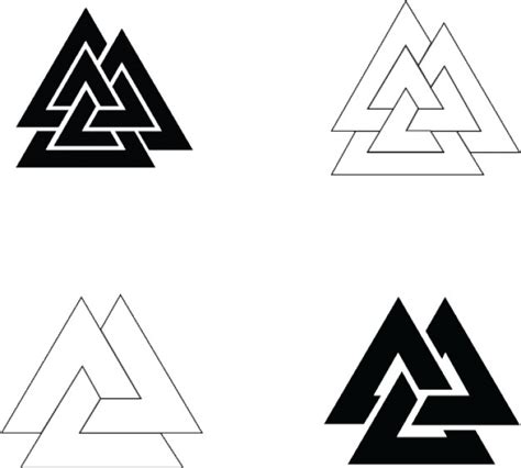 svg symbol pattern symbol vector simple valknut designs vector free download