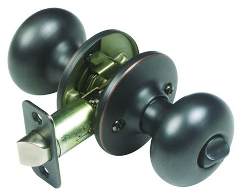 cambridge rubbed bronze privacy flat door knob