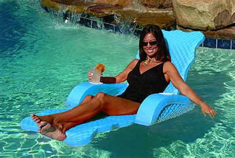 Floating Chairs For The Pool by Scalloped Unsinkable Pool Chaise Lounger