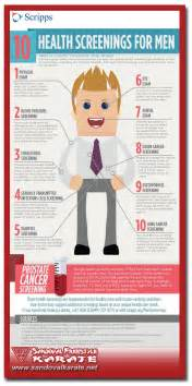 10 health screenings men infographic sandoval freestyle karate