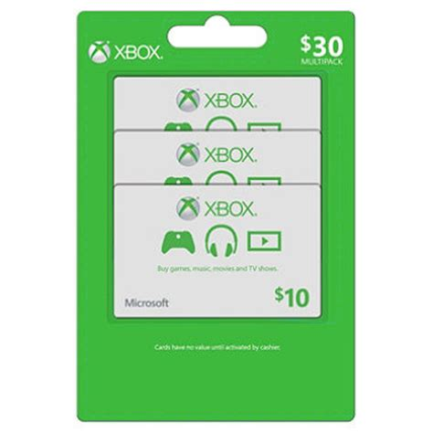 xbox live 30 multi pack 3 10 gift cards sam s club - Sam S Club Xbox Gift Card
