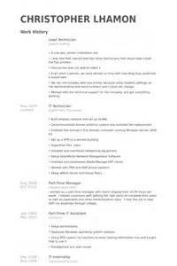 Prepress Technician Sle Resume by Prepress Technician Resume Sle Resumecareerfo Prepress Technician Resume Sle Lead