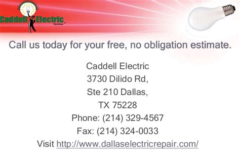 caddell electric electrician dallas tx electricians tips you should know before hiring an electrician for your