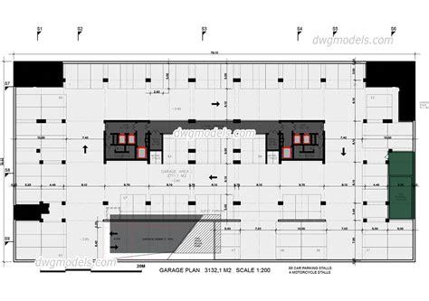 block garage plans garage plan dwg free cad blocks