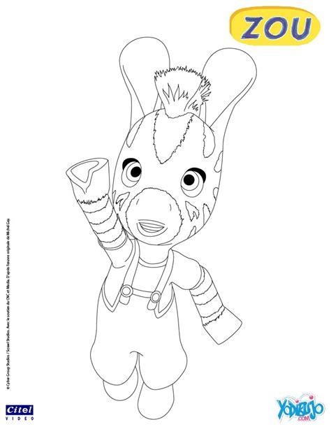 Dibujos Infantiles Zou | dibujos para colorear zou es hellokids com