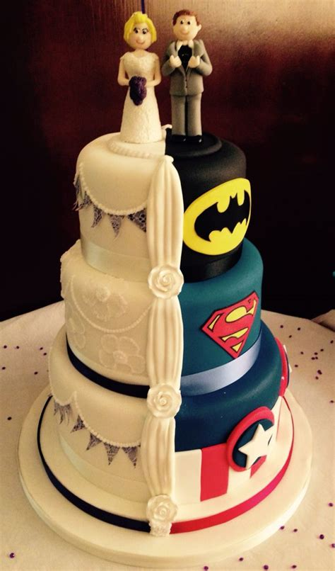 Hochzeitstorte Comic by Half And Half Wedding Cake Wedding Cakes