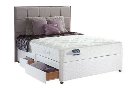 single divan bed sealy pearl memory support 3ft single divan bed