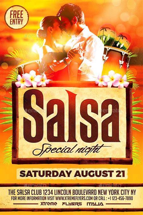 template flyer salsa salsa flyer template psd xtremeflyers flyer templates