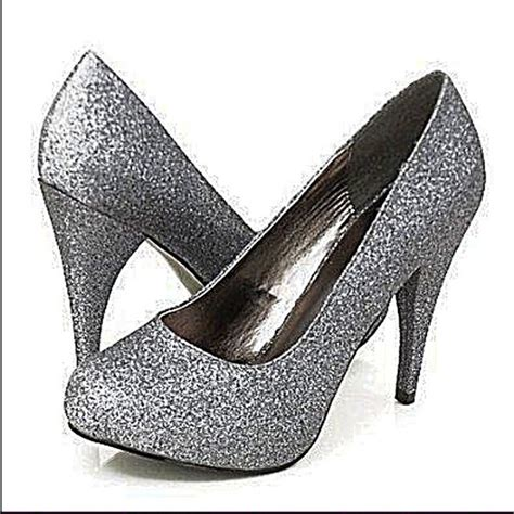 pewter colored heels 76 bumper shoes pewter colored glitter pumps brand