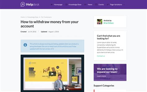 Helpdesk Documentation Html5 Responsive Website Template Helpdesk Website Template
