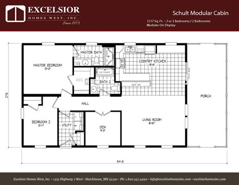 schult floor plans schult modular cabin excelsior homes west inc