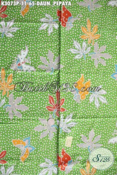 Kamen Batik Motif Daun Pepaya batik halus warna hijau motif daun pepaya batik printing