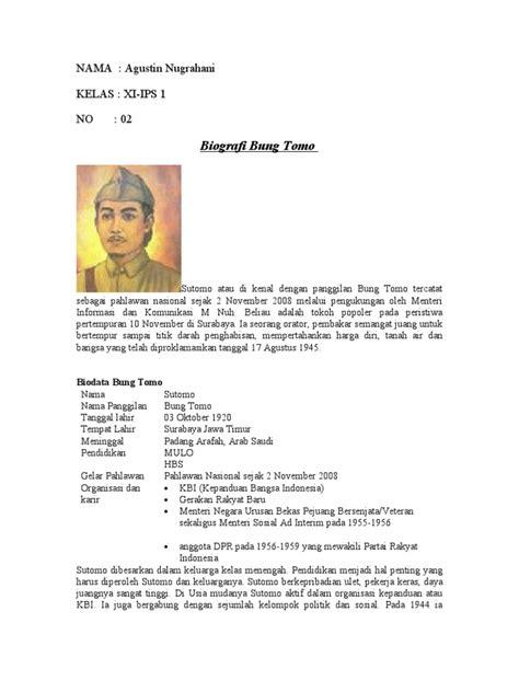 short biography bung tomo biografi tokoh pahlawan