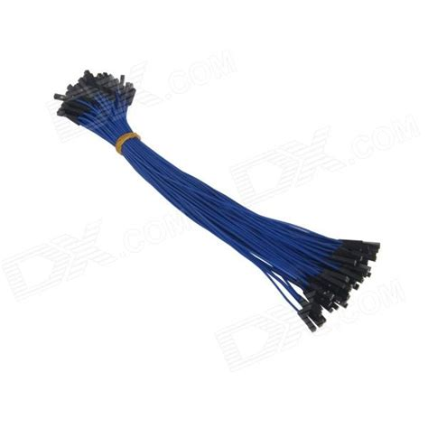 Best Quality Kabel Dupont Famale To 1 pin to dupont wire connector cables for arduino blue 20cm 100 pcs free