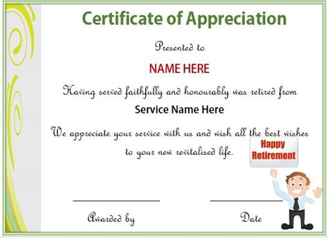 editable certificate of appreciation template 20 free certificates of appreciation for employees