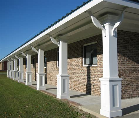 Patio Columns by Non Tapered Pvc Porch Columns Curb Appeal Products