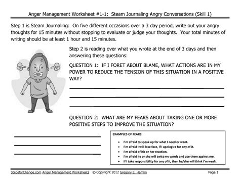 Anger Management Worksheets For Adults by Skill 1 Anger Management Techniques And Worksheets Steam