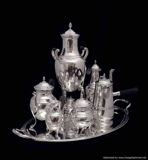 Tea Set Napoleon 7 Picese 18 best images about sterling silver tableware on